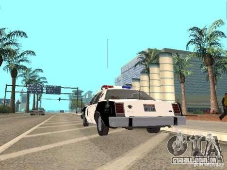 Ford LTD Crown Victoria Interceptor LAPD 1985 para GTA San Andreas vista direita