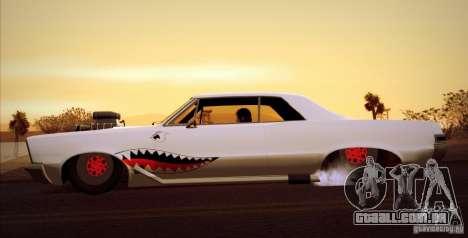 Pontiac GTO Drag Shark para GTA San Andreas traseira esquerda vista