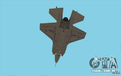 Lockheed F-35 Lightning II para GTA San Andreas vista interior