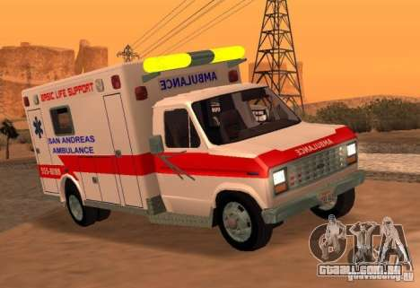 Ford Econoline Ambulance para GTA San Andreas traseira esquerda vista