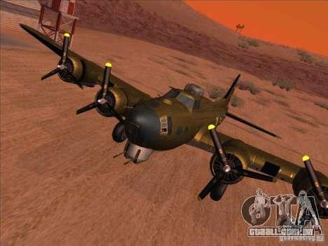 B-17G Flying Fortress para GTA San Andreas