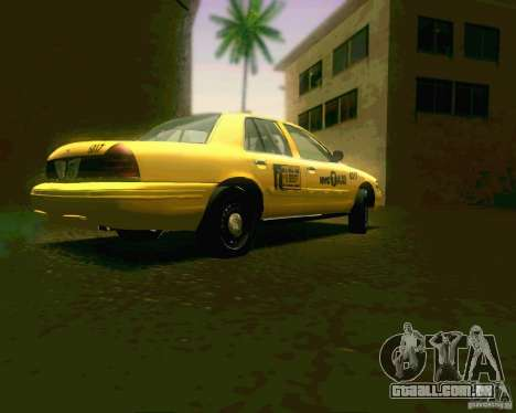 Ford Crown Victoria 2003 NYC TAXI para GTA San Andreas vista direita