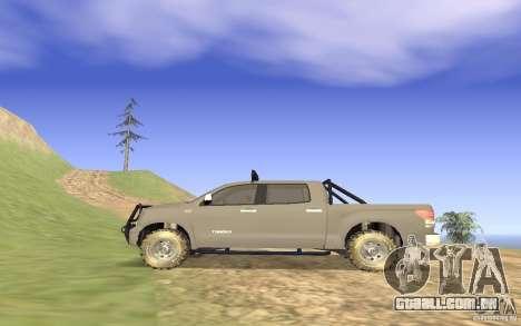Toyota Tundra 4x4 para GTA San Andreas esquerda vista