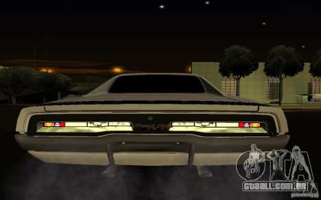 Dodge Charger R/T para GTA San Andreas vista interior