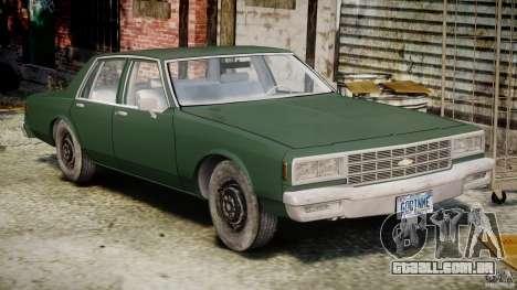 Chevrolet Impala 1983 v2.0 para GTA 4 esquerda vista
