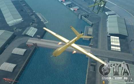 RQ9 Predator para GTA San Andreas vista direita