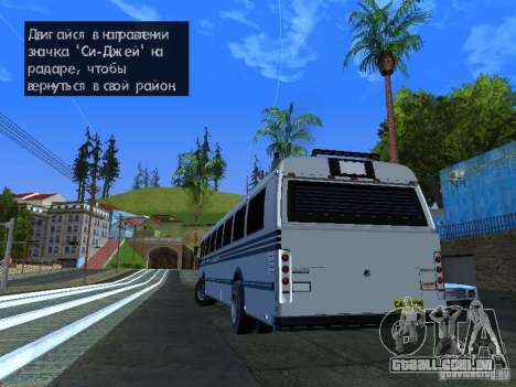 Prison Bus para GTA San Andreas esquerda vista