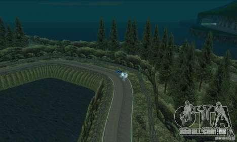 A rota do rali para GTA San Andreas nono tela