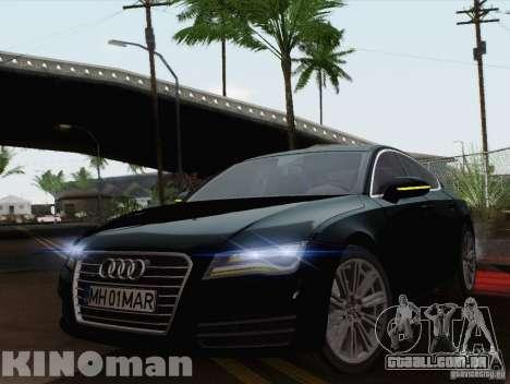 Audi A7 Sportback 2010 para GTA San Andreas traseira esquerda vista