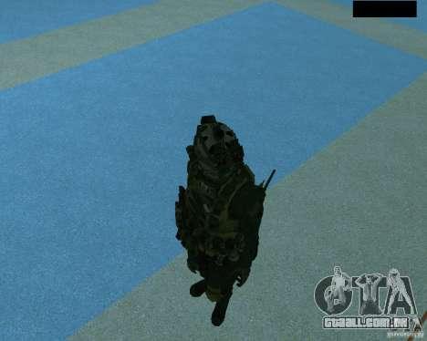 O terceiro soldado da pele Cod MW 2 para GTA San Andreas sexta tela