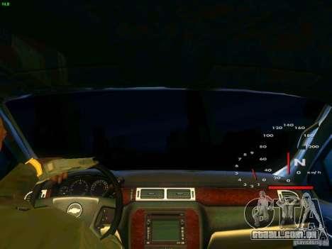 Chevrolet Silverado Final para GTA San Andreas vista interior