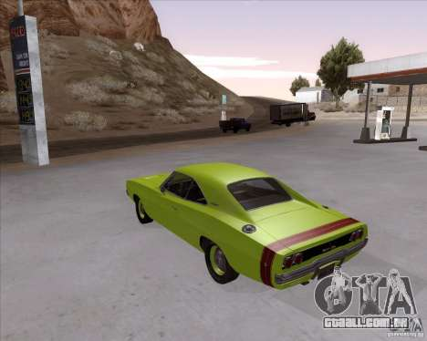Dodge Charger RT 440 1968 para GTA San Andreas esquerda vista