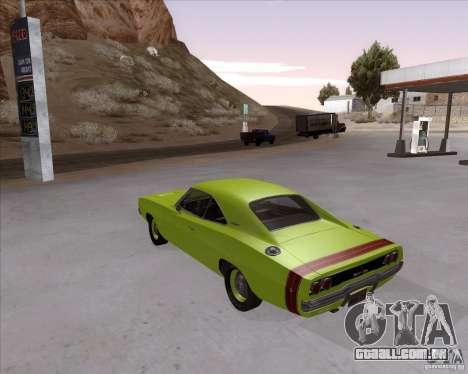 Dodge Charger RT 440 1968 para GTA San Andreas esquerda vista