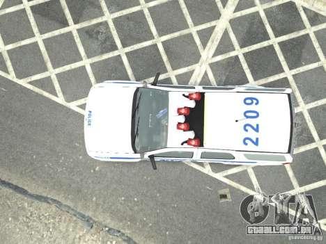 Chevrolet Tahoe NYCPD para GTA 4 traseira esquerda vista