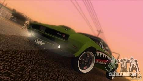 Dodge Charger RT SharkWide para GTA San Andreas vista inferior