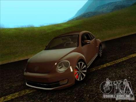 Volkswagen Beetle Turbo 2012 para GTA San Andreas traseira esquerda vista