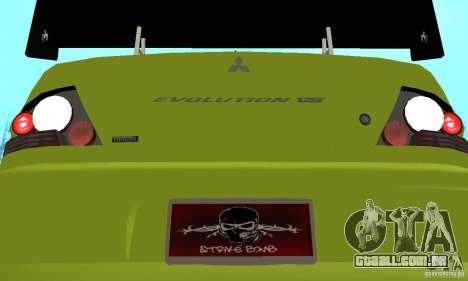 Mitsubishi Lancer Evo The Fast and the Furious 2 para GTA San Andreas vista interior