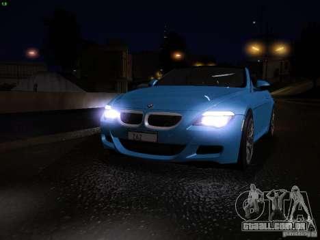 BMW M6 para GTA San Andreas interior