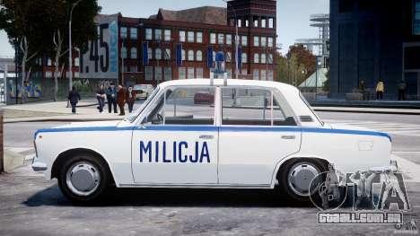 Fiat 125p Polski Milicja para GTA 4 esquerda vista