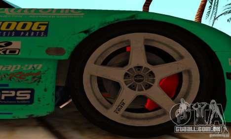 Mazda RX7 Falken edition para GTA San Andreas vista interior