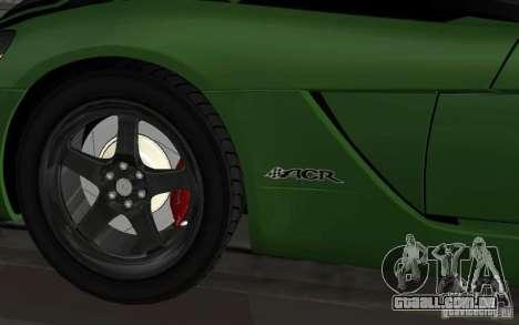 Dodge Viper um pequeno ajuste para GTA San Andreas traseira esquerda vista