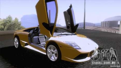 Lamborghini Murcielago LP640 2006 V1.0 para vista lateral GTA San Andreas