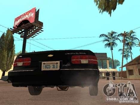 Chevrolet Caprice 1991 LSPD para GTA San Andreas vista direita