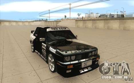 BMW E30 M3 - Coupe Explosive para GTA San Andreas vista traseira
