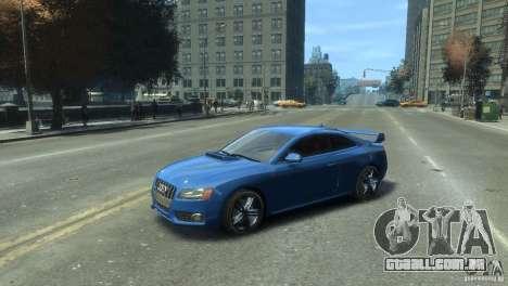 Audi S5 1.1 para GTA 4 traseira esquerda vista