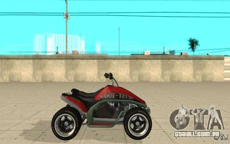 Powerquad_by-pele 2-MF Woofi para GTA San Andreas esquerda vista