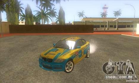 BMW 135i (E82) para GTA San Andreas vista inferior