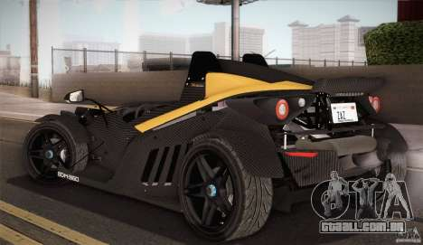 KTM-X-Bow para GTA San Andreas vista inferior