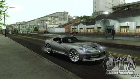 Dodge SRT Viper GTS 2012 V1.0 para GTA San Andreas vista inferior