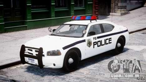 Dodge Charger FBI Police para GTA 4 esquerda vista