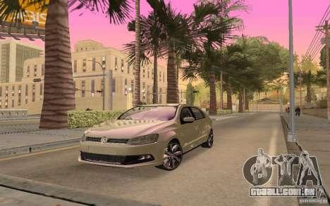 Volkswagen Gol G6 para GTA San Andreas traseira esquerda vista