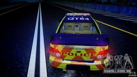 Subaru Impreza WRX Police [ELS] para GTA 4 vista inferior