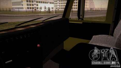KAMAZ 5460 Restyling para GTA San Andreas vista interior