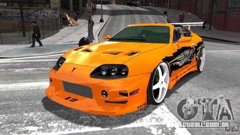 Toyota Supra Fast And Furious para GTA 4