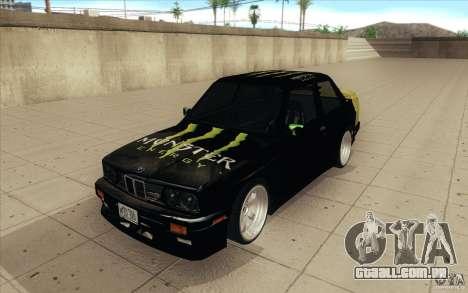 BMW E30 323i para GTA San Andreas vista traseira