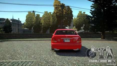 Toyota Aristo para GTA 4 traseira esquerda vista