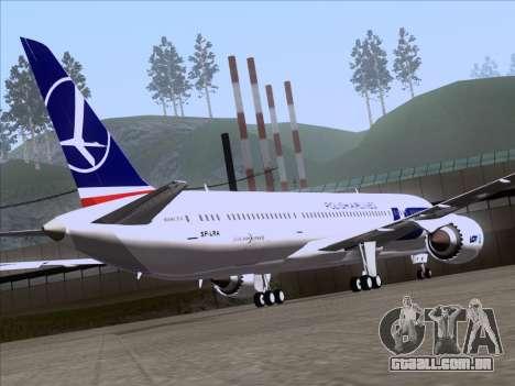 Boeing 787-9 LOT Polish Airlines para GTA San Andreas vista interior