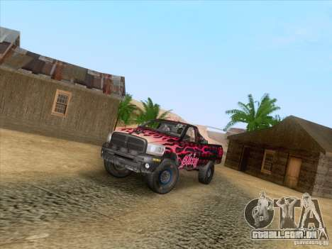 Dodge Ram Trophy Truck para vista lateral GTA San Andreas