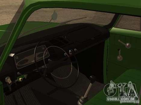 Versão inicial IZH 2715 para GTA San Andreas vista traseira