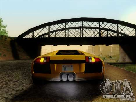 Lamborghini Murcielago LP640-4 para GTA San Andreas traseira esquerda vista