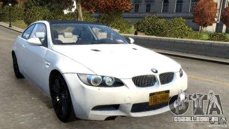 BMW M3 E92 2008 v1.0 para GTA 4 esquerda vista