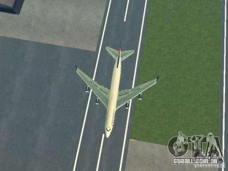Boeing 747-400 Delta Airlines para GTA San Andreas vista traseira