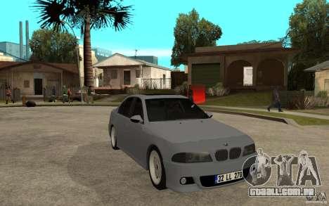 BMW 523i CebeL Tuning para GTA San Andreas vista traseira