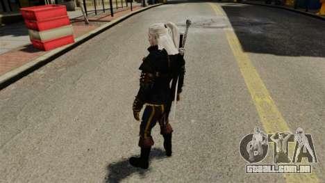 Geralt de Rivia v3 para GTA 4 por diante tela