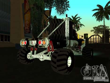 Kenworth W900 Monster para GTA San Andreas vista direita