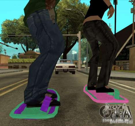 Hoverboard bttf para GTA San Andreas traseira esquerda vista